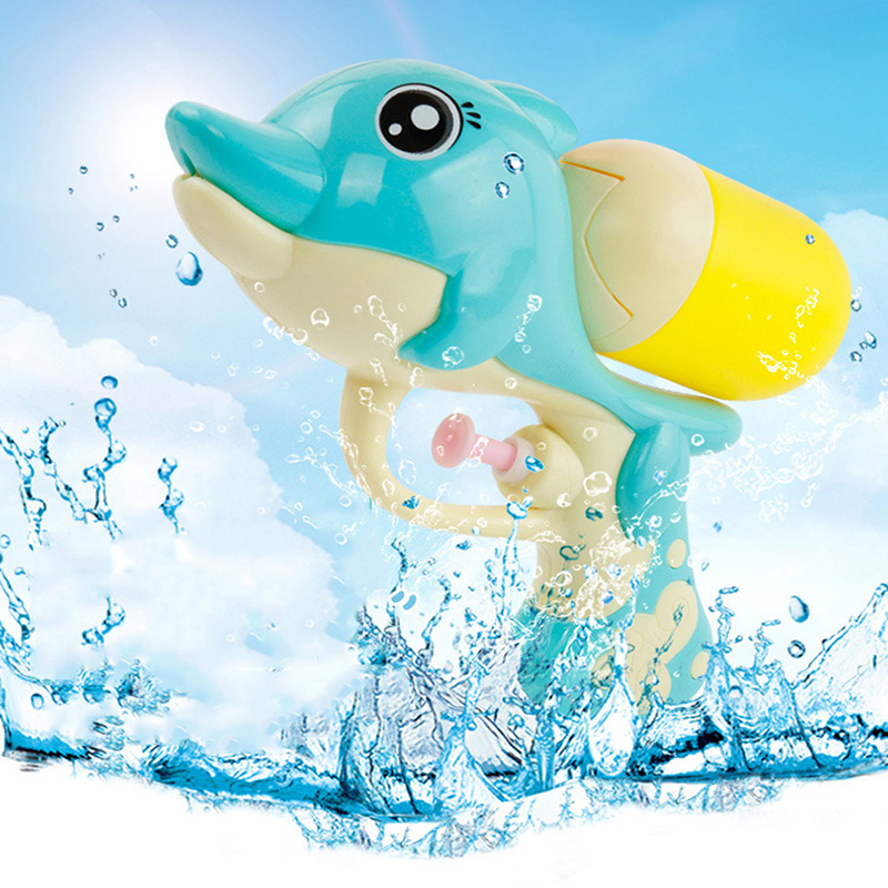 SLPF Water Gun Toys Summer Beach Play Water Children Bathroom Mini Dolphin High Pressure Water Spray Kids Baby Outdoor Game G24