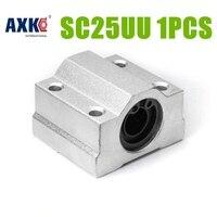 AXK hurtowy SC25UU SCS25UU 25mm Liniowe Łożyska Kulkowe Blok części Routera CNC XYZ