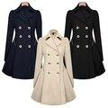 Women Lapel Long Sleeve Winter Coat Outwear Work Jacket