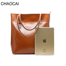fashion women handbag genuine leather shoulder bag ladies larger totes real leather Sacthel girl Cowhide Purse