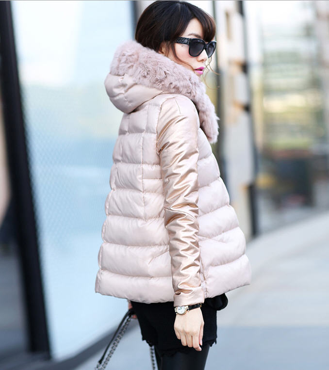 2013 Winter Fashion Female Short Doll Style Real Rex Rabbit Fur Collar Thick Cotton Padded Jacket Loose Cape Cloak Coat D2031 2013 winter fashion female short doll style real rex rabbit fur collar thick cotton padded jacket loose cape cloak coat d2031