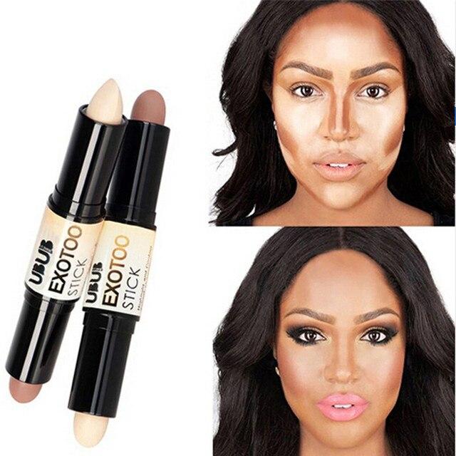 UBUB doble contorno, maquiagem para herramientas de maquillaje de belleza marcador cremoso bronceador contorno paleta