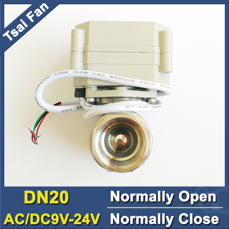 TF20 S2 C AC DC9V 24V 2 5 Wires DN20 Water Electric Normally Open Close Valve