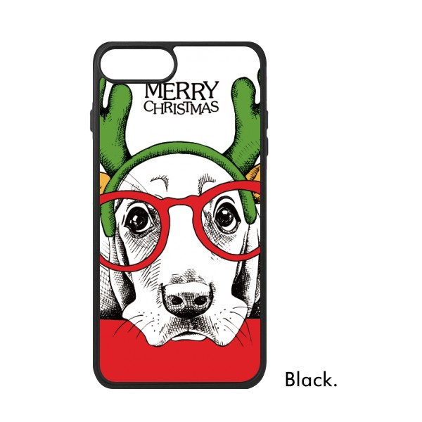 크리스마스 개 기장이 그림 패션 동물 순록 신사 전화 케이스 아이폰 7/8 플러스 케이스 Phonecase 커버