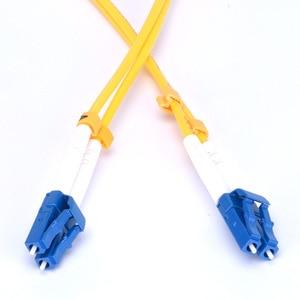 Image 2 - LC UPC parche de fibra óptica Cable dúplex 2,0mm PVC puente óptico modo único FTTH fibra parche Cable conector LC
