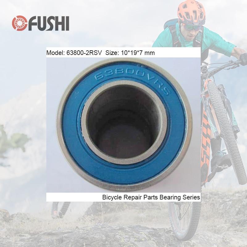 63800-2RSV MAX Bearing 10*19*7mm ( 1 PC ) Full Balls Bicycle Suspension Pivot Repair Parts 63800 2RS RSV Ball Bearings 63800-2RS sb66c suspension pivot bearing replacement full set 8 pcs