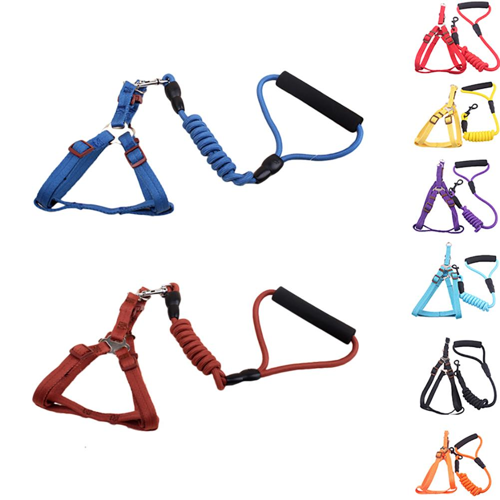 Soft Pet Harness Small Dog Chest Strap Rope Cute Puppy with Lead Leash