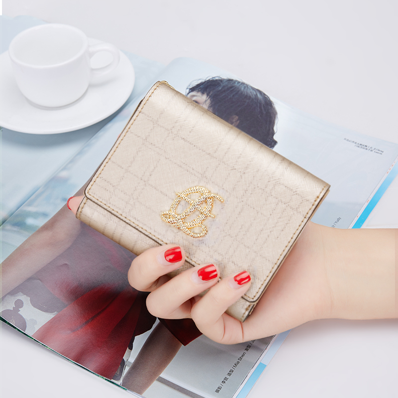 FOXER Brand Women Short Wallet Female Cow Leather Coin Purse & ID Case & Card Holder Fashion Wallet for Girl etya brand cow leather men women wallet female fashion coin pocket multifunction purse high quality male card id holder purse
