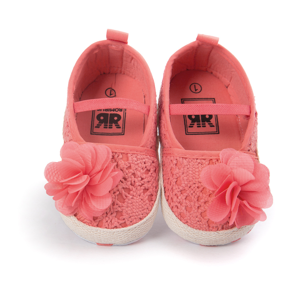 2019 Fashion Sweet Branded Pink Girl Baby Shoes First Walker Infant Kids Flower Chaussures Girls Crochet Knit Toddlers Soft Sole Bebe Sapatos Be Friendly In Use Baby Shoes First Walkers