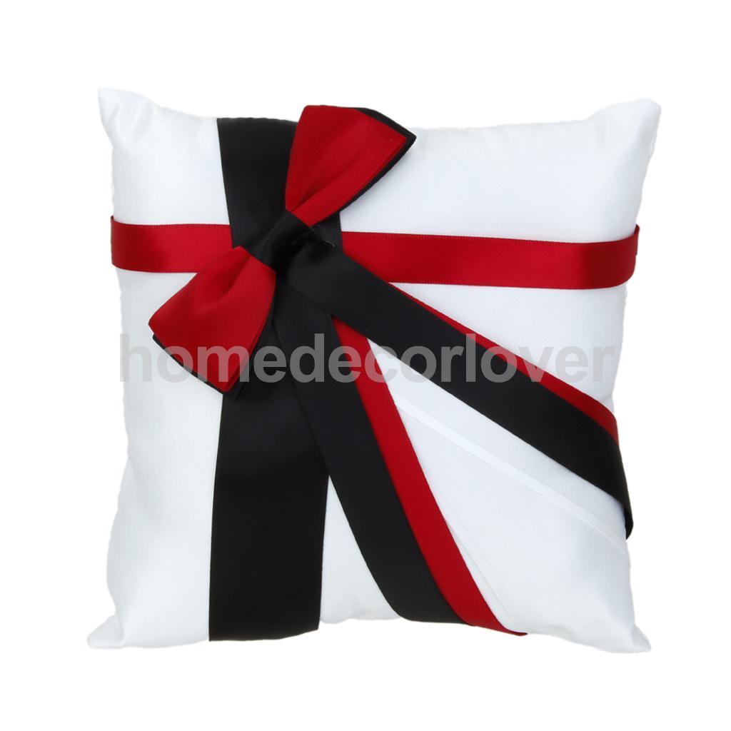 Acheter Anneau de mariage Oreiller Porteur Coussin avec Ruban 20 cm x 20 cm de cushion wedding rings pillow fiable fournisseurs sur HomeDecorLover Store