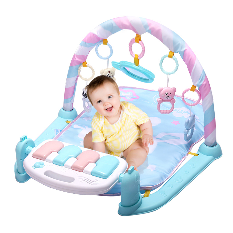 Honest Baby Activity Gym Childrens Play Mat 0-12 Months Developing Carpet Soft Rattles Musical Toys Activity Rug For Babies Games Baby Rattles & Mobiles