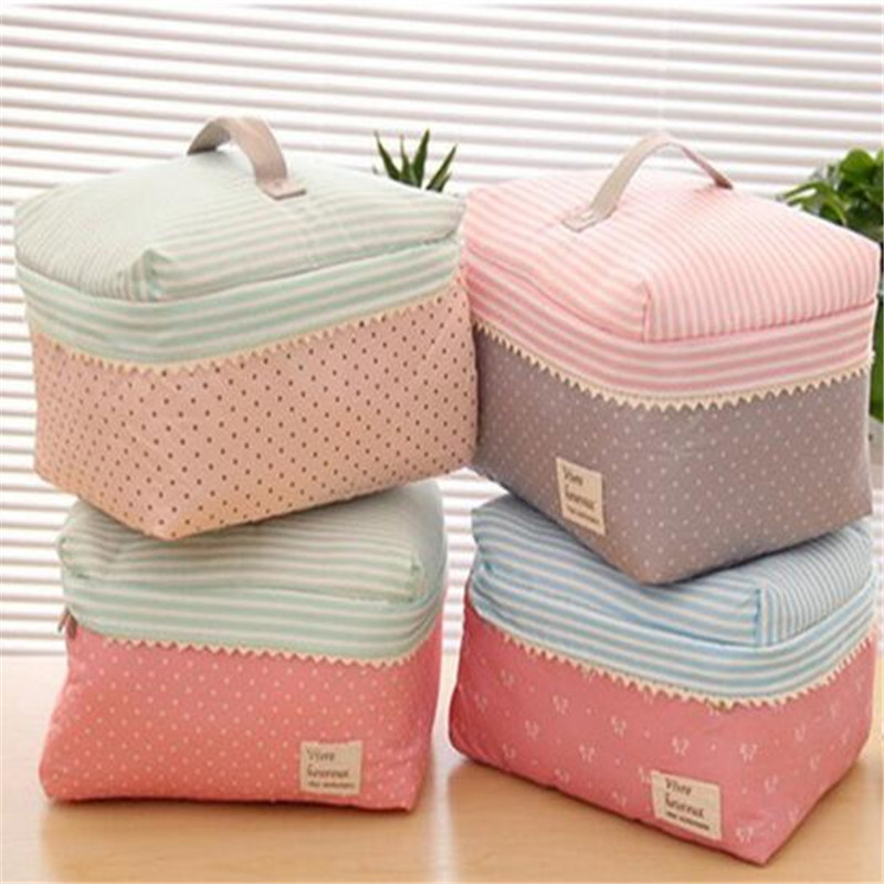 Girls Cute Makeup Bags Portable Women Cotton Organizer Cosmetic Bag Thicken Beauty Pouch Storage Bag Cosmetic Toiletry Bags new arrival women pu leather prints cosmetic organizer bag lady cute waterproof european and american style storage makeup bags