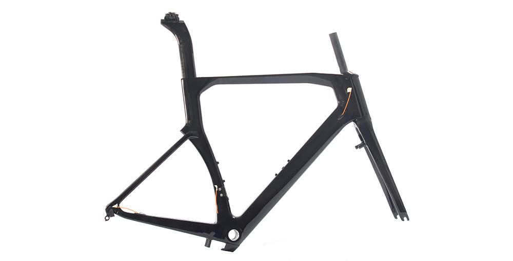Cheaper limited sale stiffness road bike aero carbon frame TT Road Racing cycling frames with direct mount brakes track frame fixed gear frame bsa carbon 1 1 2to 1 1 8 bike frameset with fork seatpost road carbon frames fixed gear frameset