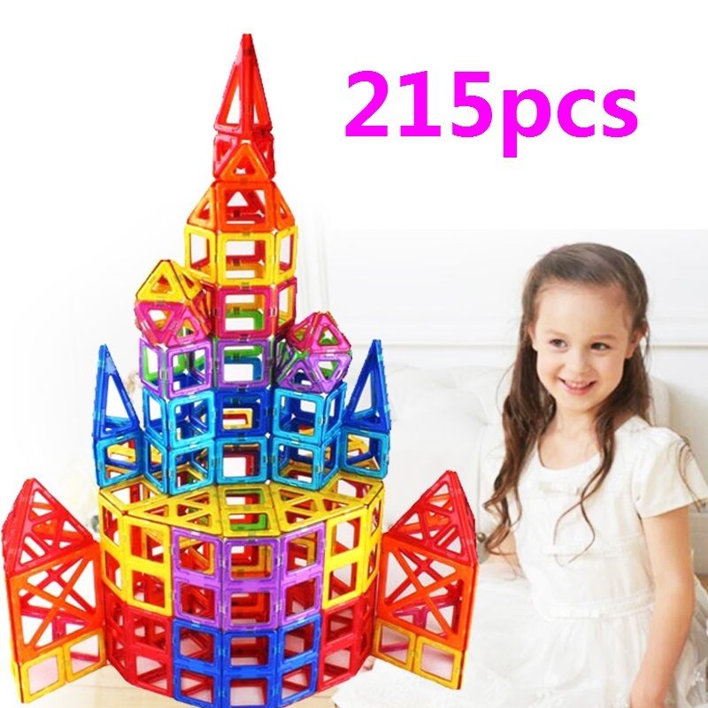 215pcs magnetic block building toy Magnetic Brick Building Toys Kids  Magnetic Designers Construction Building Blocks gifts kids tri fidget hand spinner triangle metal finger focus toy adhd autism kids adult toys finger spinner toys gags