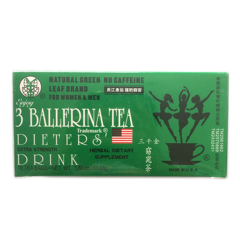 3 Ballerina tea Weight Loss Drink Fat Slimming Herbal 18 Bags 53.88g natural green herbal dietary supplement tinghon women gladiator sandals shoes woman summer sandals flats black pink beige size 33 43