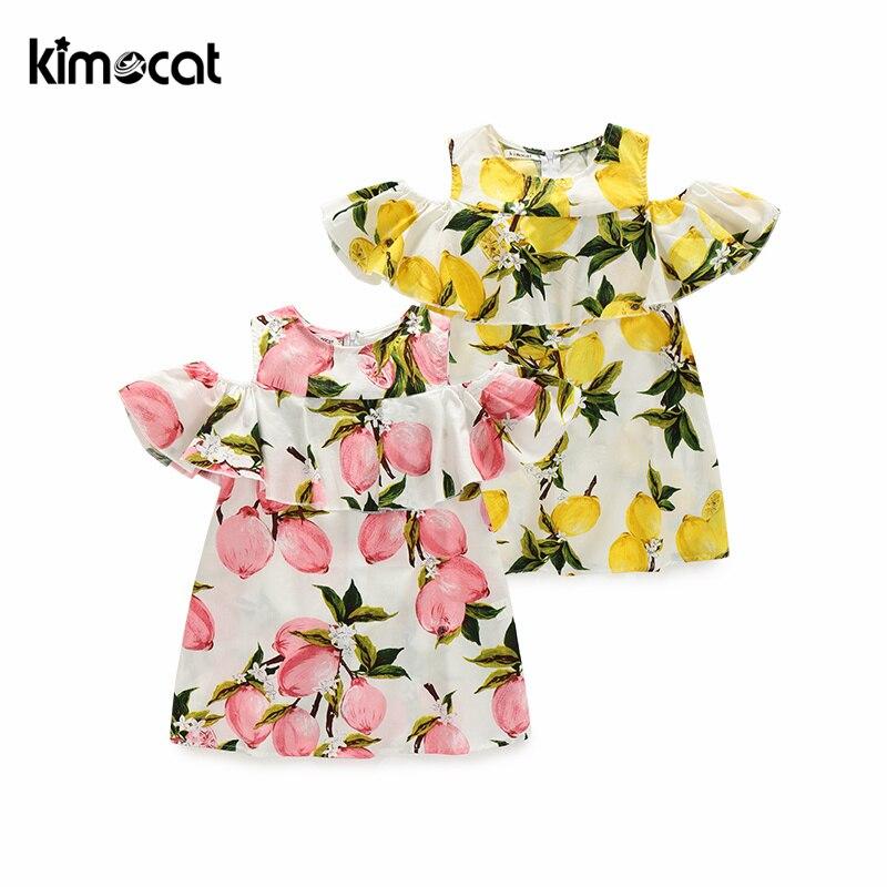 Купить kimocat детское летнее платье без рукавов для девочек принцессы