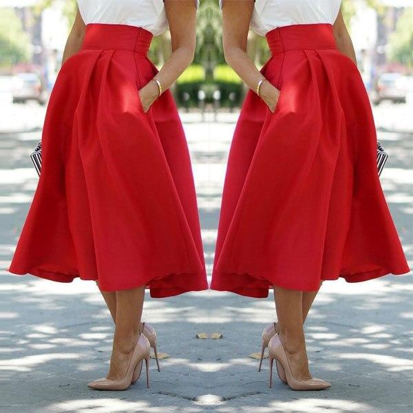 Faldas en diferentes colores y estilos Moda De Faldas Largas c34f9e6a76cb