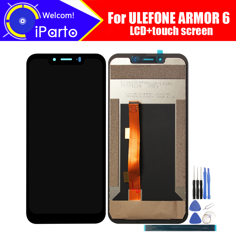 6 2 inch ULEFONE ARMOR 6 LCD Display Touch Screen Digitizer Assembly 100 Original New LCD