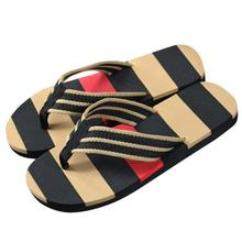 2016 New Fashion Men Summer Stripe Flip Flops Shoes Sandals Male Slipper Flip-flops hombre zapatillas Dec2