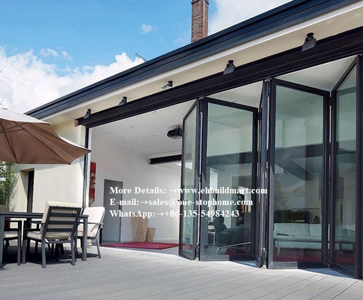 Economic Aluminium Balcony Folding Glass Door Prices, Aluminum Alloy Sheet Patio Door