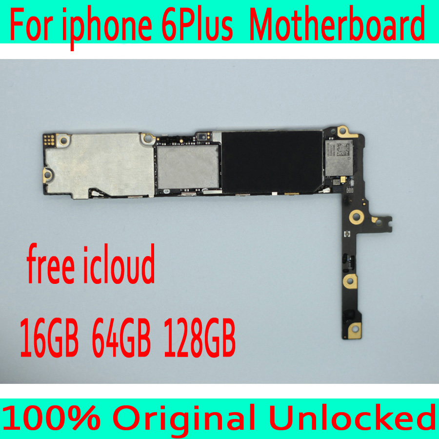 for iphone 6 Plus Motherboard without Touch ID,Original unlocked for iphone 6 Plus Mainboard with IOS System,16GB / 64GB /128GB