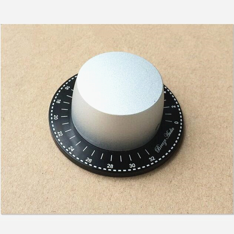 1 piece 60mm knob for power amplifier Volume knob aluminum With scale