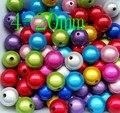 Дешевые оптовые модные акриловые жемчужные бусины смешанных цветов, популярные чудесные бусины для изготовления детских ожерелий