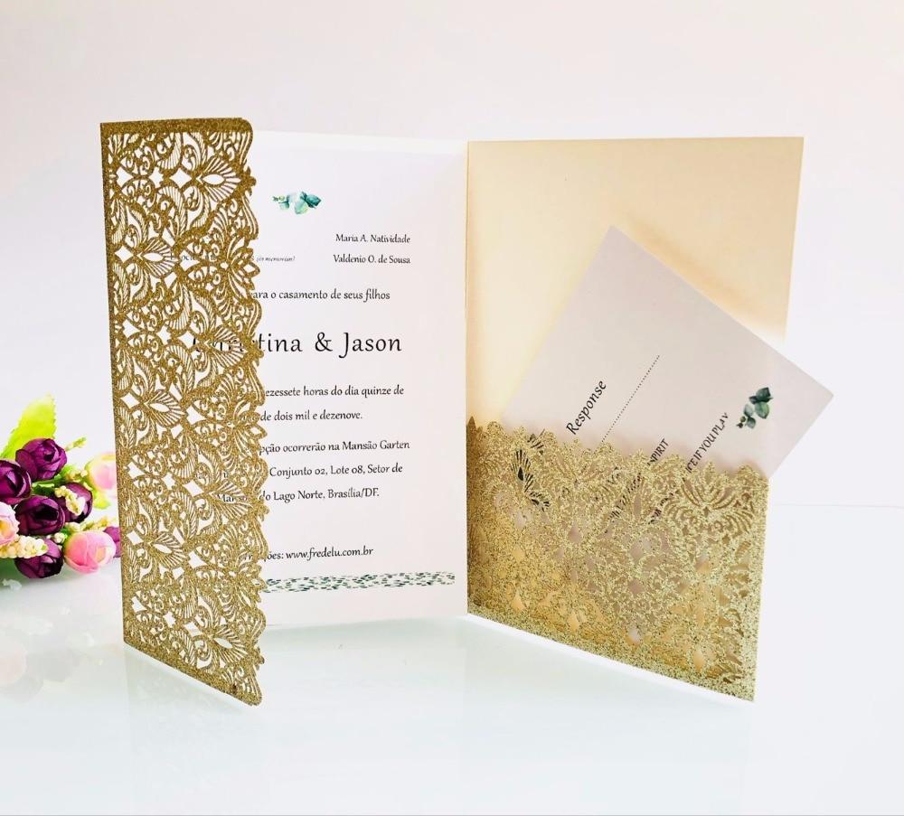 Wedding Invitations High End: High End Wedding Invitation Customization Laser Cutout