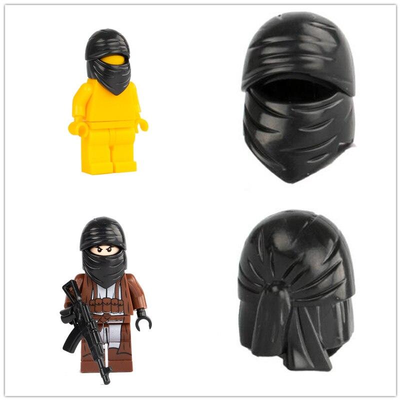 Helmet Accessories Building Blocks Military Wars SWAT Helmet Bricks Parts Hats Terrorist Minifigs DIY Toys For Children C004