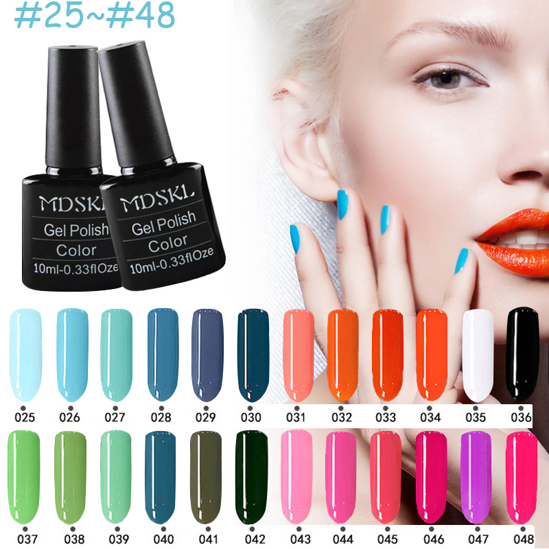 MDSKL 132 Colors Gel Nagellak LED UV-Gel Langdurige Soak-off Gel Vernissen Beauty Gel Lak Nagels Polish 10ML Heet verkoop