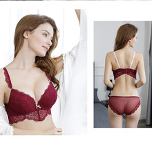 VVUES Women Lingerie Set Sexy Bras Super Push Up Bra Lace Embroidery Suit Underwear Seamless Brassiere 2019