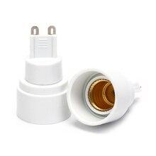 1 шт. G9 в E14 Цоколь для галогенного CFL светильник лампа адаптер конвертер держатель светильник лампа база гнездо преобразования