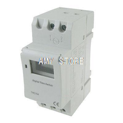 Din Rail Mount Digital Weekly Programmable Timer DC 24V Time Relay Switch THC15A new digital lcd programmable timer 12v dc din rail time relay switch power drop ship