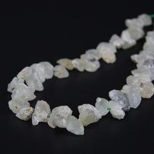 15.5″/strand Natural Raw Prehnites Freeform Nugget Gravel Loose Beads,Roug Green Stone Top Drilled Chips Necklace Jewelry Making