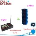 Self service restaurante tabla Call sistema de megafonía con un teclado transmisor y 10 Blue Pager