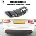 C63 PSM Стиль углеродного волокна задний бампер диффузор спойлер для Benz W205 C63 C63s AMG седан и вагон и купе 2015-2022