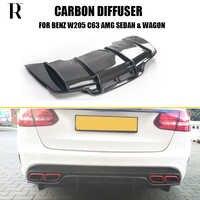 C63 PSM Stil Carbon Faser Heckschürze Diffusor Spoiler für Benz W205 C63 C63s AMG Limousine & Wagon & Coupe 2015-2022
