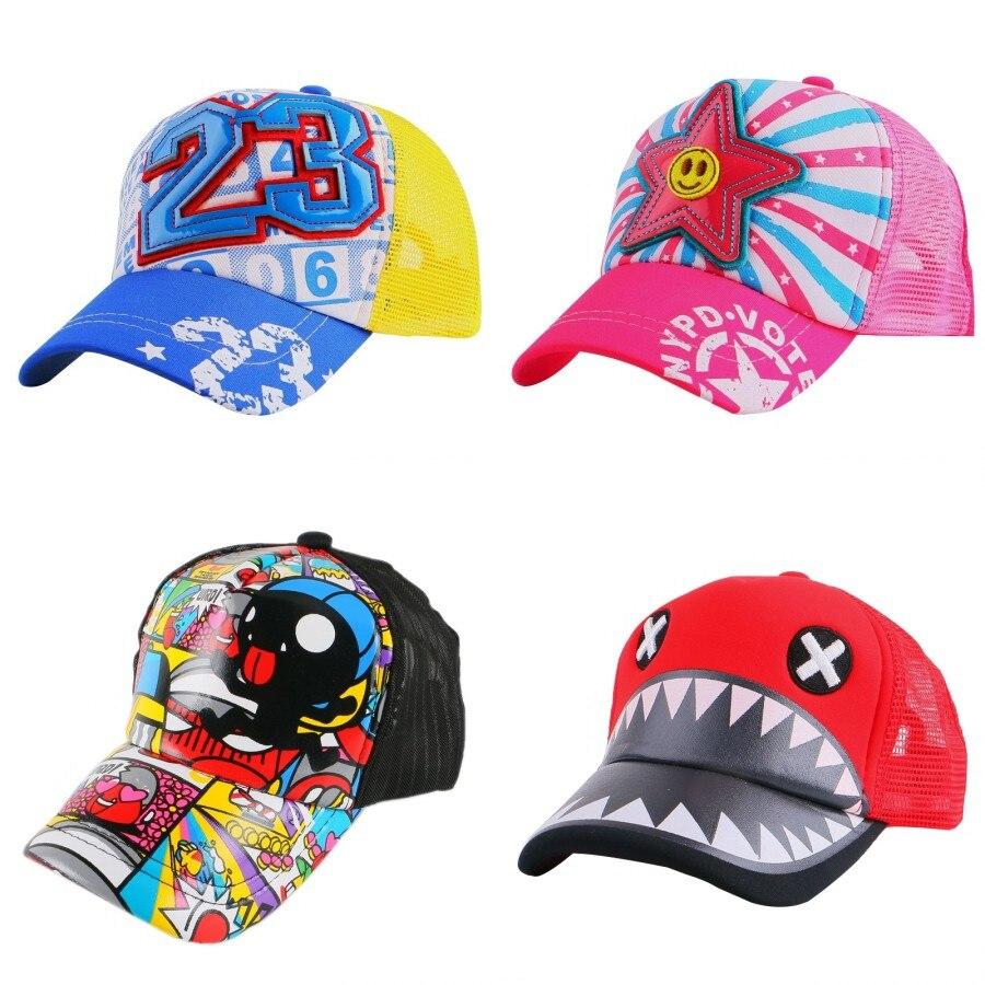 be02f39fa09 wholesale children lovely cute summer snapback designer custom monster  character mesh cool baby baseball cap boy girl casquette-in Baseball Caps  from ...