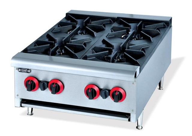 super quality commericial counter top 4 burner multi cooker cooktop
