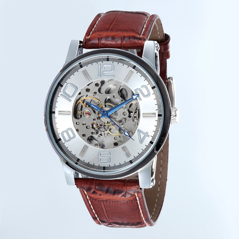 Mechanical mens WATCHES Vintage Automatic clock Men WACHES Fashion Leather 007 Watch famous china brand waterproof