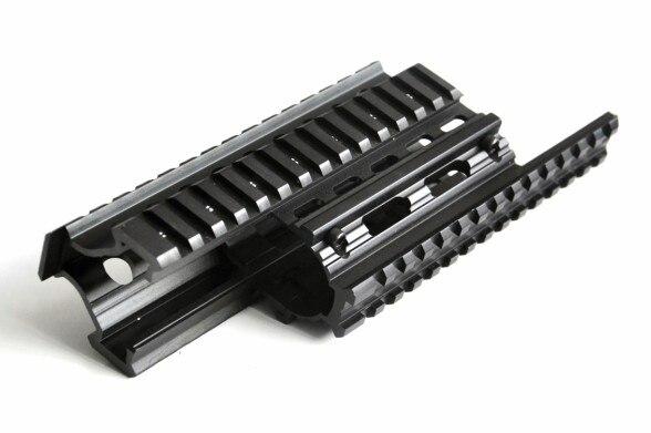 M70 AK Quad Rail Handguard Pour Laser Dot Sites de Tir Mont V-cut pour Co-témoin avec Fer sites MTU011
