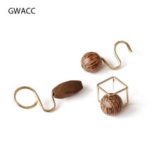 GWACC 2019 NEW Design Vintage Wooden Stud Earrings For Women Girls Circle Cube Original Minority Fashion Jewelry