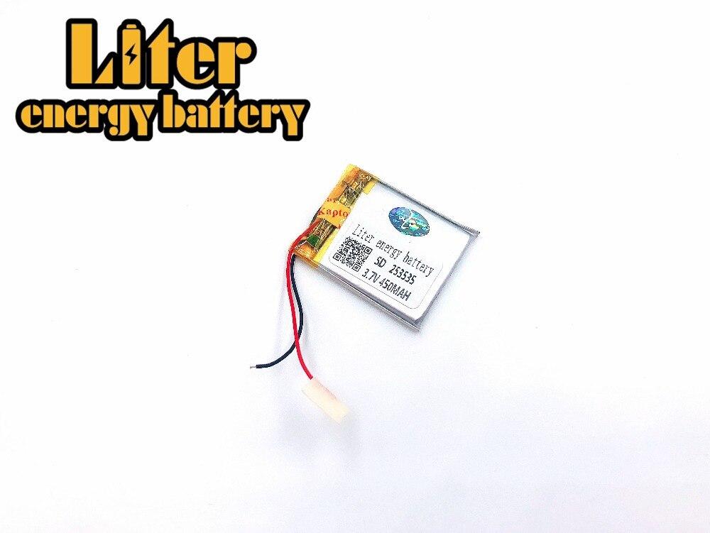Größe 253535 3,7 V 450 Mah Lithium-polymer-batterie Mit Bord Für Mp4 Gsp Digitale Produkte Niedriger Preis Unterhaltungselektronik