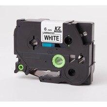CIDY 5PCS black on white tape TZe211 TZe-211 TZ211 TZe 211 TZ 211 Compatible brother P-touch TZ Tze label tape LAMINATED TAPES