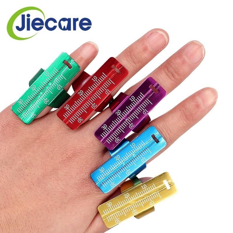 1PC Colorful Aluminium Dental Endo Finger Rulers Span Measure Scale Endodontic Dental Instruments Finger Ruler Free Shipping