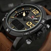 2017 NAVIFORCE Luxury Brand Men S Quartz Digital Watches Men Fashion Casual Sports Clock Genuine Leather