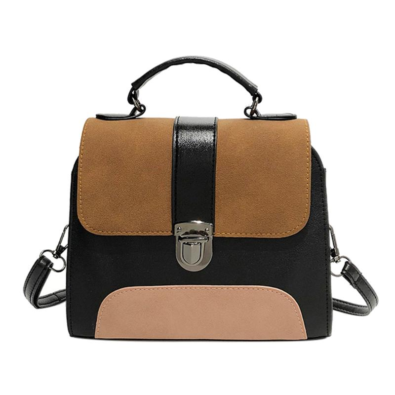 4b25524d4324 Casual Women PU Leather Sling Handbag Girls Crossbody Bag Patchwork Color  Messenger Shoulder Bag Features  Exquisite design  generous