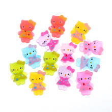 50Pcs Mixed Clear Glitter Resin Cats Cabochon Flatback Decoration Crafts Embellishments For Scrapbooking Diy Accessories(China)