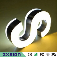 double sided lighted sign letters, acrylic led channel letters advertising store hotel restaurant coffee shop name signs