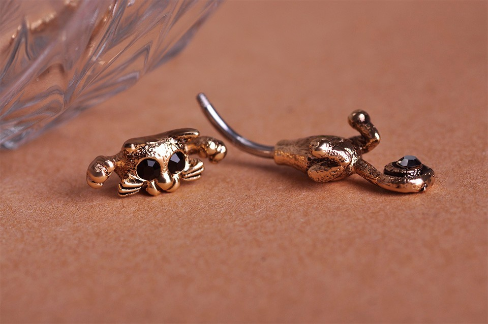 HTB17JjEIpXXXXavapXXq6xXFXXXO Bejeweled Cat Body Piercing Belly Button Ring Jewelry - 3 Colors